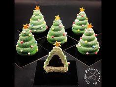 Bonjour bonjour :-) On continue avec les petites idées pour Noël avec, après les boules, des petits entremets sapins de Noël individuels aux saveurs de pistache et griotte ;-) Ils sont composés : d'un biscuit financier pistache d'une crème montée mascarpone...