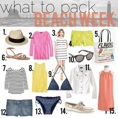 jillgg's good life (for less) | a style blog: what to pack: beach week!