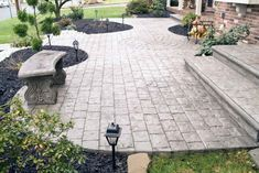 From wood grain to cobblestone styles and beyond, discover the top 50 best stamped concrete patio ideas. Explore simple to maintain outdoor space designs. Poured Concrete Patio, Concrete Patio Designs, Backyard Patio Designs, Patio Ideas, Concrete Patios, Pergola Patio, Landscaping Ideas, Porch Ideas, Concrete Patio Extension Ideas