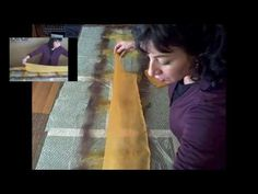 Nuno Felting 2- Laying out & rolling  www.feltinglessons.com has ALL these felting videos, plus photo gallery, printable instructions, links to resources and project ideas!  This is the second video in the Nuno Felting series. Explains how to lay out the wool onto the fabric, how to roll it, and general tips and how-tos.