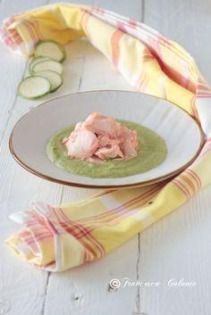 Crema di zucchine e patata con salmone ricetta light - I Sapori di Ethra