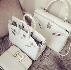 Bags, Shoes, Fashion and everything else. #fashion, #love - www.dbfashionbox.com | White Out | via Tumblr Birkin,  handbags -  hermes birkin