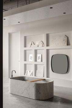 vosgesparis: Piet Boon Bathroom Showroom and Salvatori Flagship store Spa Like Bathroom, Small Bathroom, Bathroom Marble, Bathroom Ideas, Concrete Bathroom, Bathroom Designs, Bathroom Fixtures, Bad Inspiration, Bathroom Inspiration