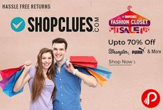 Shopclues #FashionClosetSale is offering Upto 70% off on #Wrangler, #Puma & more.   http://www.paisebachaoindia.com/fashion-closet-sale-wrangler-puma-upto-70-off-shopclues/