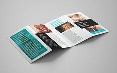 MOCKUPS DESIGN: Free 4-panel leaflet mockup