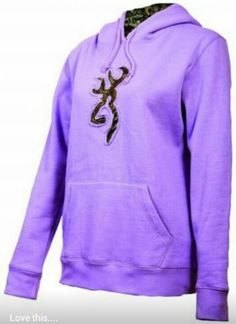 Purple & Camo Browning Hoodie! I want one right now!