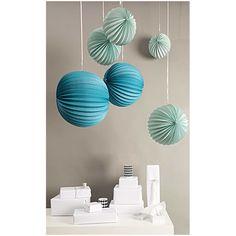 Aqua Paper Lanterns | Rico Design Party Supplies | Pretty Party Supplies – The Original Party Bag Company