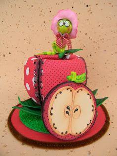 Qmimos - Fazendo Arte brincando: Porta Lápis - Maçãzinha da Amanda Pin