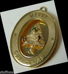 Merry Christmas Tree Charm for Bracelet Vintage colorful tiny stones 14K Gold   Ebay - http://stores.ebay.com/StuffnSuch?_trksid=p4340.l2563