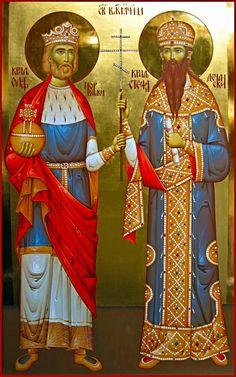 St Olav II , King of Norway and St Stefan Uros III of Decani, Nemanjić , Serbia