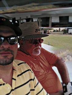 Me and Dad playing golf in The Villages, FL.