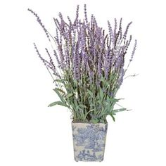 """Check out this item at One Kings Lane! 23"""" Lavender in Pot, Faux"""
