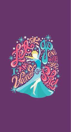 Let it go, graphic lyrics | Frozen