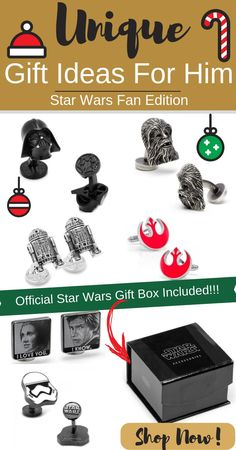 Know a hardcore Star Wars fan in your life but not sure what gifts to get? These official Star Wars cufflinks are the best and unique gifts for him he'll absolutely love! Shop now while stocks last!