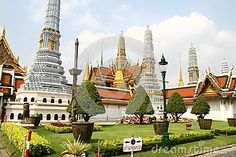Royal Palace zone in Bangkok Thailand
