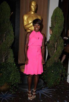 Viola Davis at the 2012 Oscar luncheon.