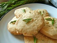Rosemary- Lemon shortbread cookies