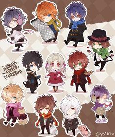 Diabolik Lovers (More Blood) winter chibis #Anime #Game #Otome