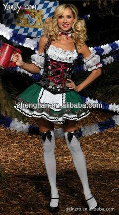 >> Click to Buy <<  Ladies Beer Maid Wench German Heidi Oktoberfest Gretchen Costume Outfit Oktoberfest Beer Maid Peasant Dress Costume German  #Affiliate