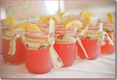 Strawberry Frozen Lemonade... 1 Can Lemonade, prepare as instructed on can 2 Cups Strawberries 2 Cups Ice Garnish with Lemon Slice