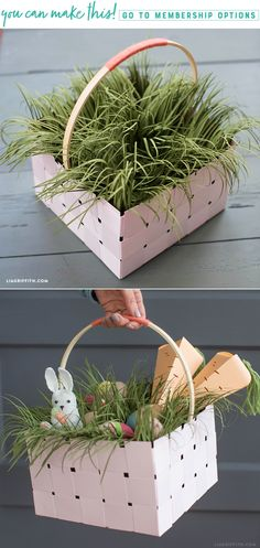 Basket Case 🐰🐣🌷 Easter is on its way and we have just the project for you. This woven paper basket with Easter grass is a great place to keep your sweets and treats. Whether you hide your baskets or put them on display, this one will certainly wow on Easter morning. https://liagriffith.com/woven-paper-basket-with-easter-grass/ * * * #easter #eastersunday #easterbasket #easterbunny #happyeaster #pasqua #easter2018 #svg #grass  #paper #papercut #paperlove #papercraft #basketweaving #diy…
