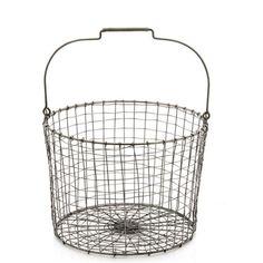 Robert Gordon - Nickel Finished Wire Bucket Small