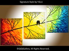Beautiful  Day ~ by QiQiGallery -  Large Abstract Painting Landscape