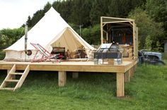 bell tent glamping - Google Search