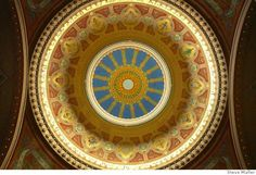 Attilio Moretti's frescoes in the dome of the Sherith Israel Congregation Synagogue, San Francisco brought to light in 2003.