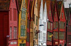 crooked houses/Bergen Norway