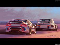BMW 3.0 CSL Hommage R Concept (2015) - Design Sketches
