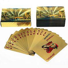 Gold Foil Art Poker Plated Playing Cards Dubai Burj Al Arab Full View 5 sets lot