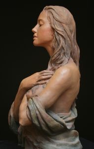 This sculpture was sculpted by Anna and painted by Jeff. This is one of Anna& series of Magdalenas. There is terra cotta version and a bronze version. Sculpture Head, Pottery Sculpture, Anatomy Sculpture, Traditional Sculptures, Art And Hobby, Anatomy Poses, Wood Carving Art, Mary Magdalene, Sacred Art