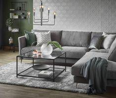 Weekend med divan i tyg Nordby grey Höstkatalogen 2018 Sweet Home, Couch, Furniture, Home Decor, Decoration, Stockholm, Sally, Living Rooms, Sport