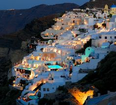 Here's another beautiful place I would love to visit! Santorini, Greece.