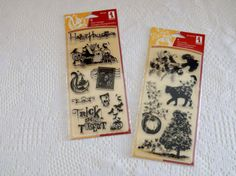 Halloween Magic Stamp Sets 12 clear stamps by CraftClearingHouse, $8.00