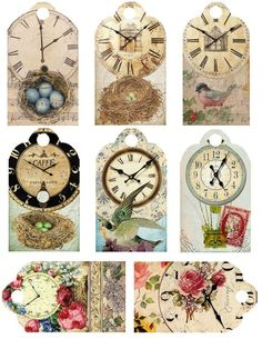 New Printable Art Prints Vintage Images Paper Ideas Vintage Tags, Images Vintage, Vintage Labels, Vintage Ephemera, Vintage Paper, Collage Vintage, Vintage Prints, Vintage Clocks, Vintage Style