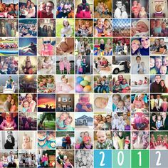 81 Picture Year End Collage with a FREE template! blog.bitsofeverything.com #collage #free #memorykeeping