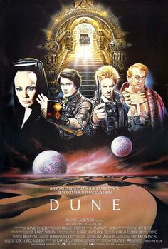 Dune is a 1984 American epic science fiction film written and directed by David Lynch, based on the 1965 Frank Herbert novel of the same name. The film stars Kyle MacLachlan as young nobleman Paul Atreides, and includes an ensemble of well-known American and European actors in supporting roles. It was filmed at the Churubusco Studios in Mexico City and included a soundtrack by the rock band Toto and Brian Eno.