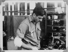I was doing some research for work, and I came across this photo on the sartorialist blog. It is an authentic vintage photo taken during WWII in Northeast Africa at a military factory....This photo is awesome! Even though he's in his military work uniform, he still looks quite styled - great inspiration!
