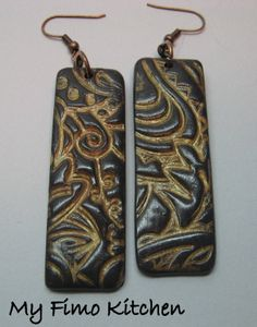 earrings by my fimo kitchen love the depth and texture