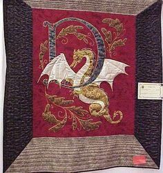 Dragon Den quilt, by Richard Larson studios.