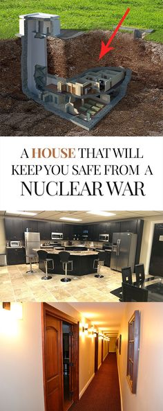 Nuclear war safe house • A bunker house underground for a catastrophe