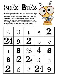 We started our multiplication unit last week. Buzz! Buzz! is a simple, one page math game that my students can play and practice their ...