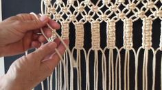 How to do macrame knots - VERTICAL LARKS HEAD