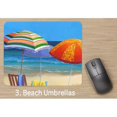 Beach Umbrellas Mouse Pad available @ www.leisaoart.com