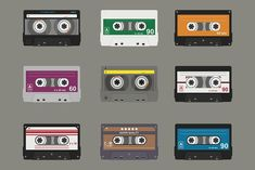 Audio cassette. Flat tapes by Elegant Solution on @creativemarket