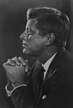 "President John F. Kennedy praying like most Americans. Probably asking for help to make the right decisions to lead America. Now in 2013 our President says.""America is no longer Christian"" This is Not True! 77 Percent of Americans consider themselves CHRISTIANS."