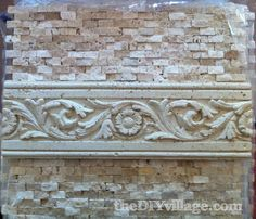 Installing Split Face Travertine Tile Backsplash, DIY Kitchen.