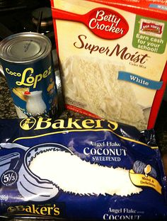 Easy Coconut Cake quick simple cheap holiday tropical Hawaii dessert sheet